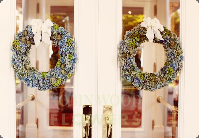 Hydrangea Wreaths BLG robin wood flowers