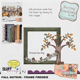 Mommy Me Time Scrapper - Fall Nutkin - Frame Freebie Preview