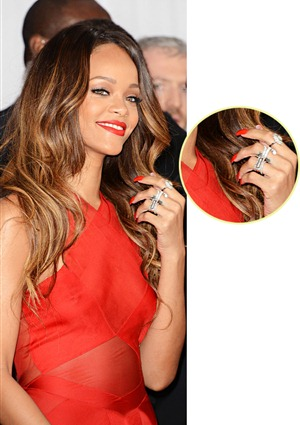 Rihanna's Stackable Rings