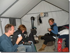 Inside of tent cabin