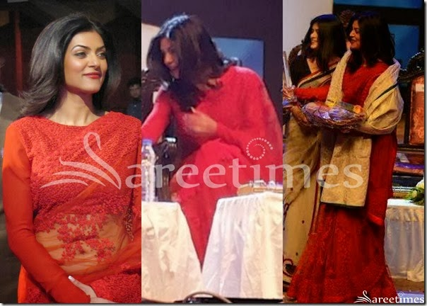 Susmitha_Sen_Red_Saree