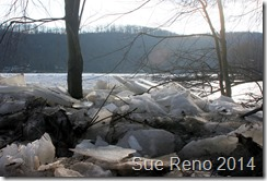 Susquehann River ice jam, by Sue Reno, Image 2