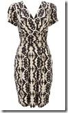 Wallis Tribal Print Wrap Dress