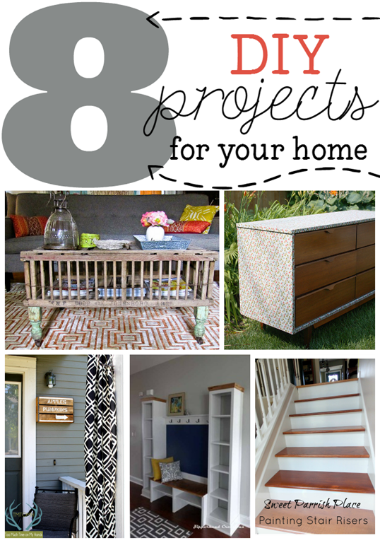 8 DIY Projects for Your Home at GingerSnapCrafts.com #diy #home #linkparty #features