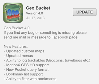 Geo Bucket version 4.0 for iOS