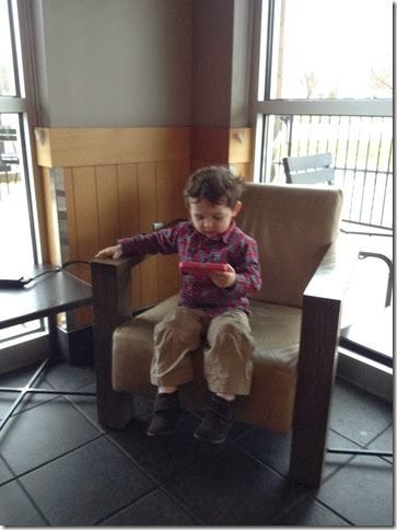 Knox at Starbucks