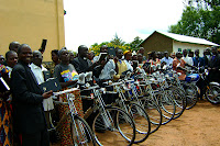 DRC, new bikes & Bibles for a preachers