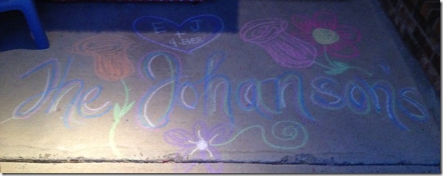 The johansons chalk