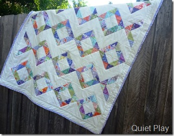 Diamond Square Good Fortune quilt