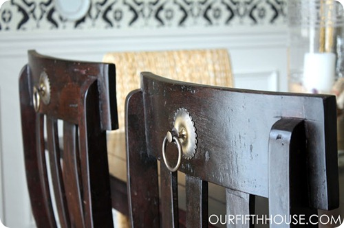 hardware on back of chairs