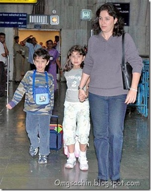 sachin tendulkar family album wife Anjali daughter Sara and son Arjune