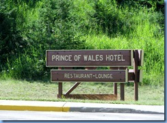 1289 Alberta Hwy 5 South - Waterton Lakes National Park - 1927 Prince of Wales Hotel on Upper Waterton Lake - sign