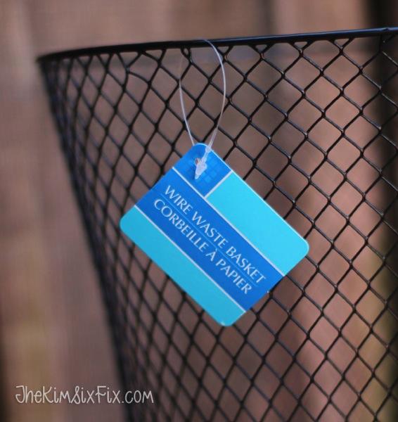 Dollar store wastebasket