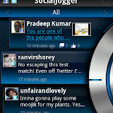 Social Jogger is a Twitter and Facebook client. Fancy to look at, but fairly kludgy and too much of an overkill