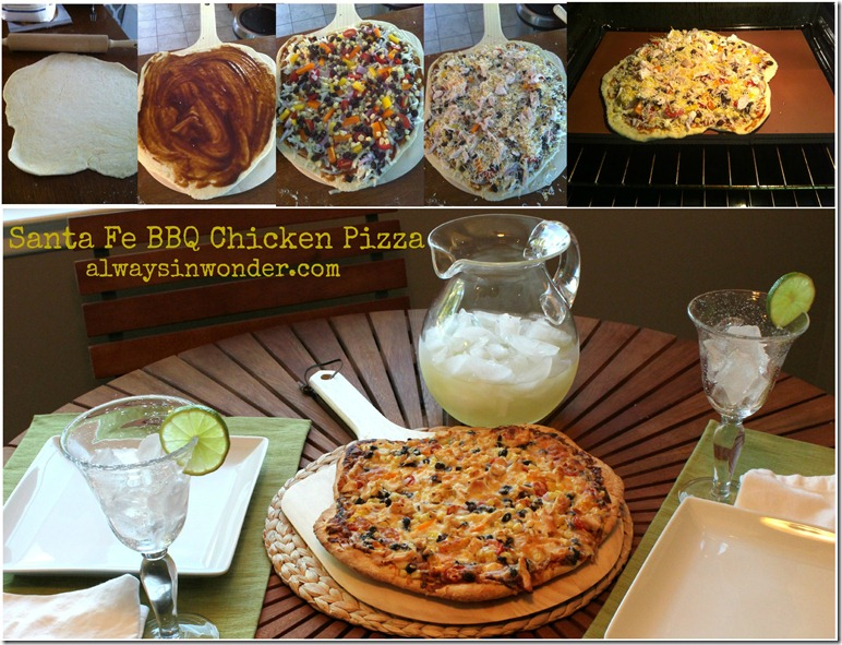 Santa Fe BBQ Chcicken Pizza Collage 2