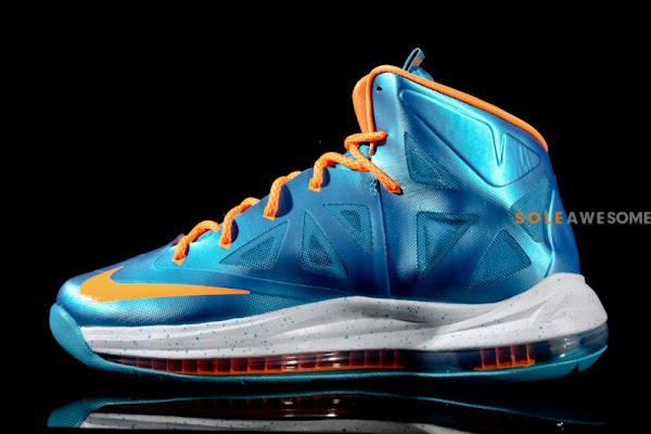 Nike LeBron X Grade School Turquoise 543564402