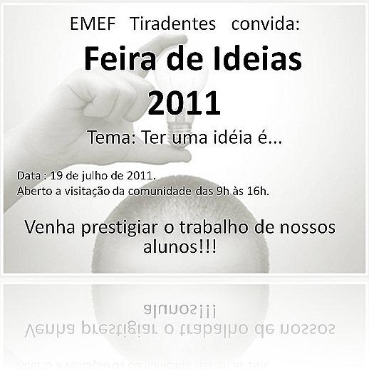 convite para feira de ideias