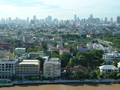 Downtown Bangkok in the distance