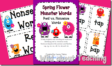 Spring Monster Words Nonsense copy