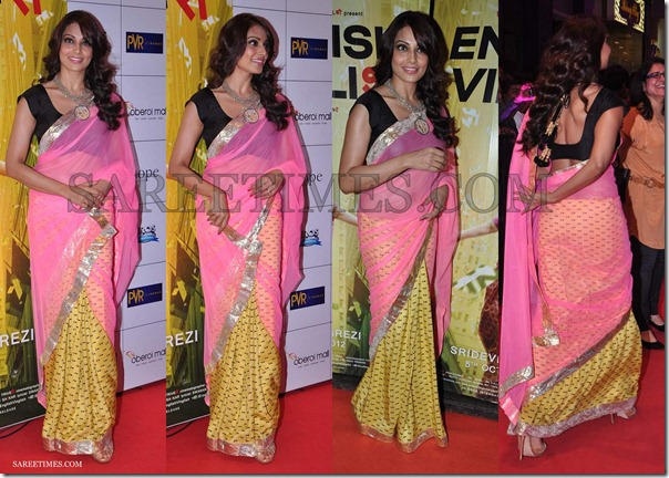 Bipasha_Basu_Pink_Yellow_Masaba_Saree