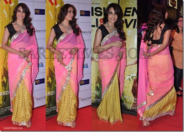 Bipasha_Basu_Pink_Yellow_Masaba_Saree