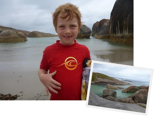 birthday boy at elephant rocks