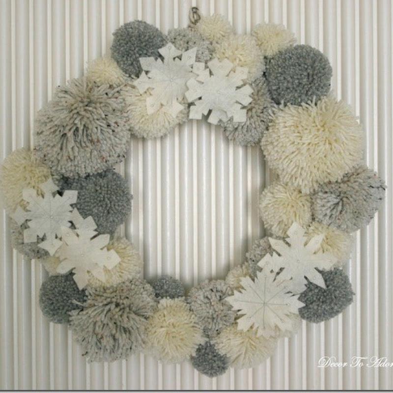 Yarn Ball Wreath Cottage Style