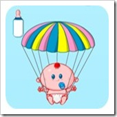 Jogos de Bebe Grátis Bebe Paraquedista