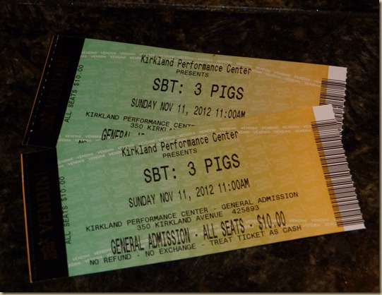 Three Little Pigs Tickets