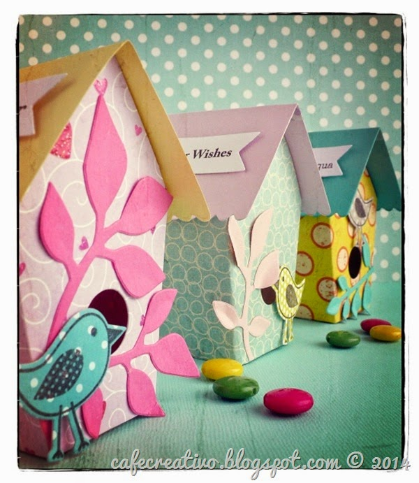 cafe creativo - big shot - easter birdhouse - pasqua