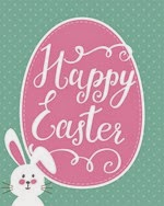 How to Nest for Less - Free Happy Easter Bunny Egg Printable