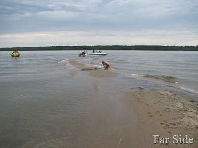 Sand Bar at Cedar Island on Cass Lake