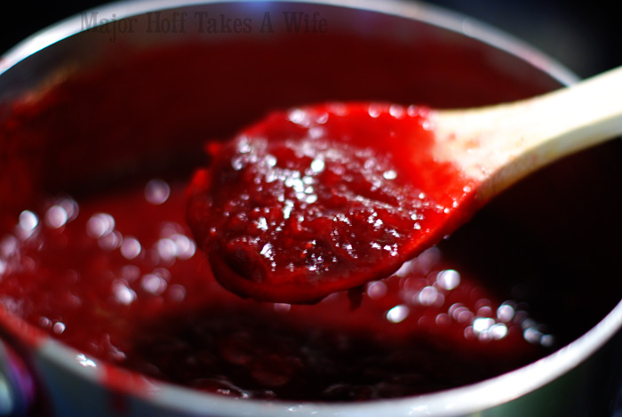 Cooking homemade make ahead cranberry sauce on the stovetop