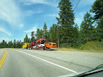 On the road, Montana