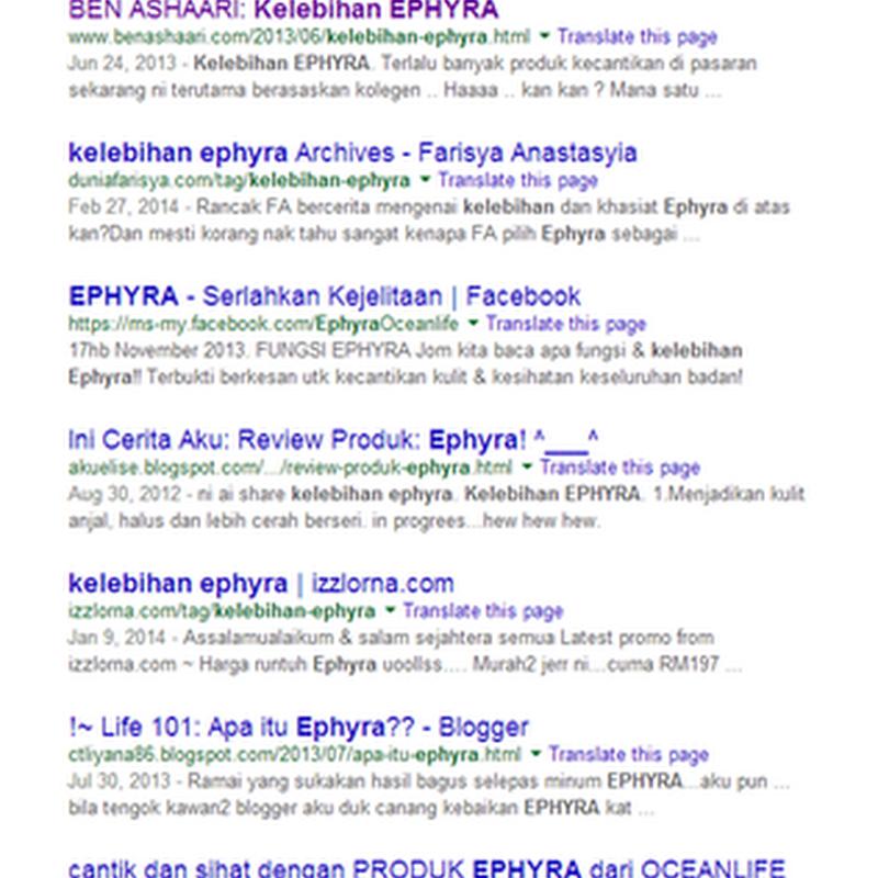 Jom Sihat Bersama EPHYRA !