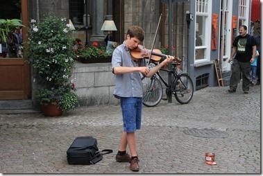 ヴィオリン弾きの若者、こちらも上手だった!
