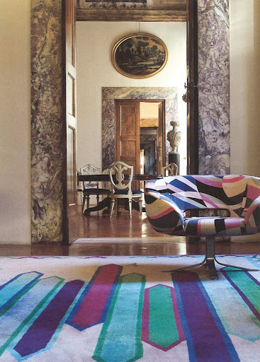 A view into the offices of the Pucci Company.  The chair, 