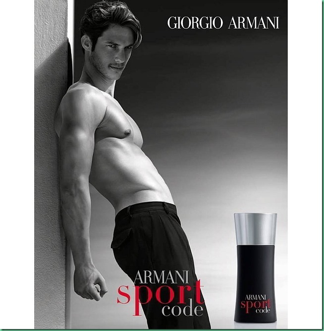 Domenique Melchior is the new face of ARMANI CODE SPORT
