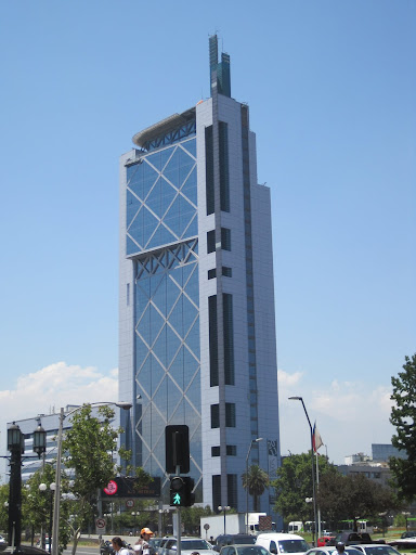 The Telefonica tower in Santiago.
