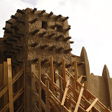 Détail de la mosquée de Djenné