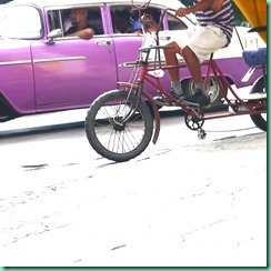 purple car and bike