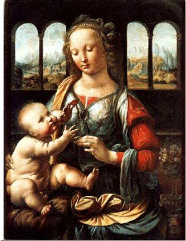 Leonard de Vinci, Vierge à l'œillet