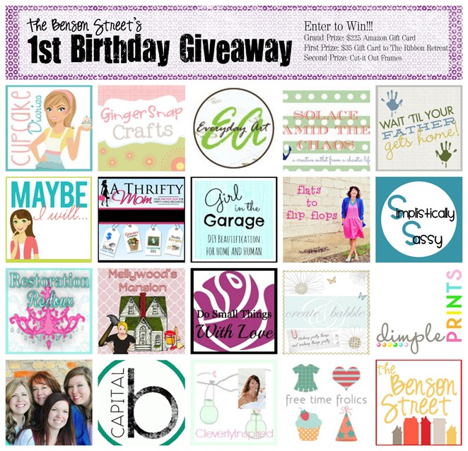 The Benson Street Huge Birthday Giveaway