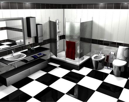 baños-con-diseño-en-blanco-y-negro
