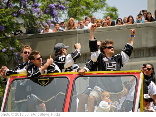 'Justin Williams at the Stanley Cup Champion Los Angeles Kings parade' photo (c) 2012, JulieAndSteve - license: https://creativecommons.org/licenses/by/2.0/