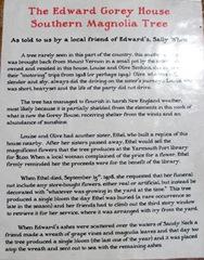 Ed Gorey house plaque southern magnolia