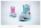 nike lebron 9 ps elite grey candy pink 9 43 sneakerbox LeBron 9 P.S. Elite Miami Vice Official Images & Release Date