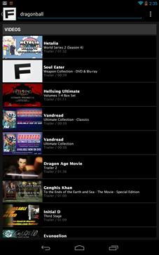 funimation app search fail