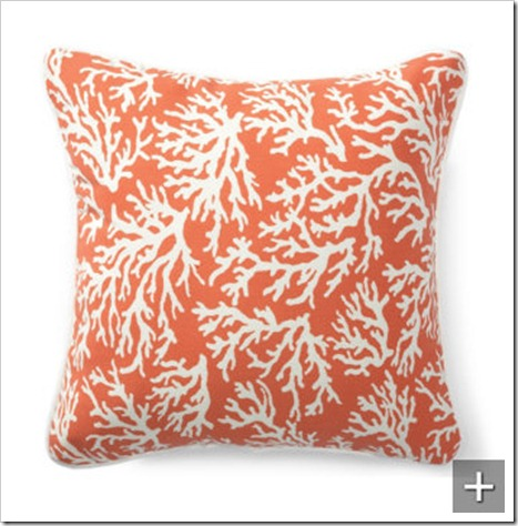 orange coral outdoor pillow