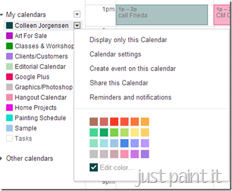 add colors to Calendars